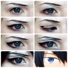 Haruka Nanase Makeup Tutorial   Lenses from @uniqso   I am not taking requests!   Good Luck   #makeuptutorial #makeupartist #cosplaymakeup #cosplaytutorial #harukananase #harukananasecosplay #harucosplay #free #freecosplay #uniqso