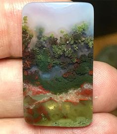 One of my best scenic moss agates! Look at the trees with color changes ! Love this one!  Sold!!!!