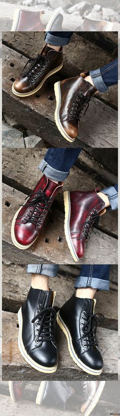 US$59.99 + Free Shipping. 3 colors available. Men Leather Lace Up Casual Outdoor Short Boots. Men formal shoes, short boots, casual comfortable shoes, oxford shoes, boots, Fashion and chic, casual shoes, men's flats, oxford boots,leather short boots, men's style, chic style, fashion style. Shop at banggood with super affordable price. #men'sshoes#men'sstyle#chic#style#fashion#style#wintershoes#casual#shoes#casualshoes#boots#oxfordshoes#loafers#flats#shortboots