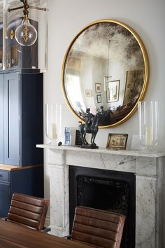 Fireplace and Mirror - Victorian Renovation - Holland Park - London - Prime Architecture