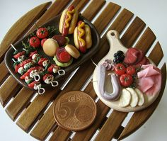 https://flic.kr/p/6nR77Q | Miniature Party Food | Handmade by me out of polymer clay 1:12 scale