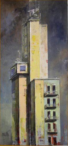 via procaccini, castello di manovra. Dipinto di Francesco Santosuosso