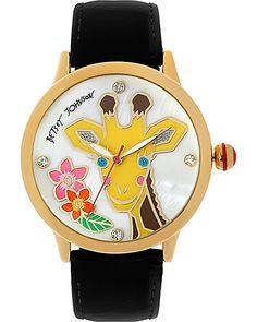 GIRAFFE WATCH BLACK accessories jewelry watches fashion