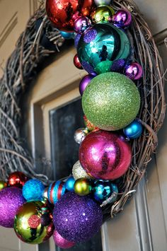 18in+Outdoor+Christmas+Decor+Wreath+by+MyCraftObsession+on+Etsy,+$41.00