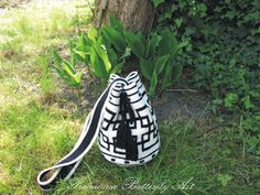 Tapestry crochet. Torba - worek. Pracownia Butterfly Art