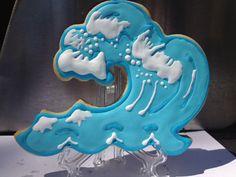 Surf Wave Decorated Sugar Cookies