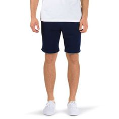 The In Da Go Fleece Short is a 70% cotton, 30% polyester French terry fleece sweat short with graphic embroidery and a medium rise, modern fit. Model is 6 feet tall and wearing a size Medium. Made from imported materials.