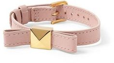 ShopStyle.com: Kate Spade New York Thin Leather Bow Bracelet $68.00