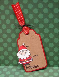 WT405 Santa Tag by donidoodle - Cards and Paper Crafts at Splitcoaststampers