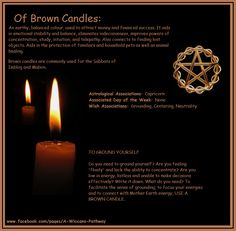 Of Brown Candles Wiccan Spell Book, Wiccan Spells, Candle Spells, Candle Magic, Magic Spells, Magick, Hoodoo Spells, Easy Spells, Brown Candles