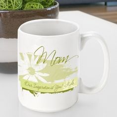 Great Unique Personalized Gift Ideas. Personalized Mother's Day Coffee Mug - Delicate Daisy http://www.greatuniquegiftideas.com/product/personalized-mothers-day-coffee-mug-delicate-daisy/ Check more at http://www.greatuniquegiftideas.com/product/personalized-mothers-day-coffee-mug-delicate-daisy/