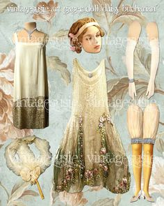 vintagesusie & wings Paper Art, Paper Crafts, Paper Toys, Paper Puppets, Foam Crafts, Facial Images, F Scott Fitzgerald, Vintage Paper Dolls, Prima Paper Dolls