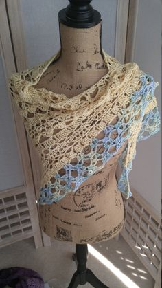 Crochet Sunkissed Yellow Shawl by AriadnesCrochetDream on Etsy