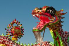 There is no Chinese New Year without the Dragon. Here is a fierce one opening his mouth!