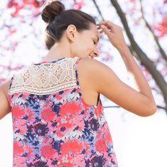 So pretty! | Mikoh Crochet Strap Top