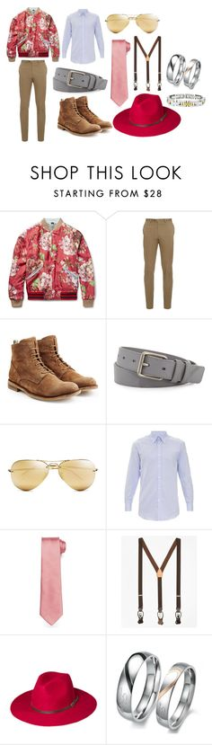 """""""Men's Wear"""" by demijay on Polyvore featuring Gucci, Brioni, Officine Creative, Burberry, Ray-Ban, Gieves & Hawkes, Brooks Brothers, Lord & Taylor, mens and men"""