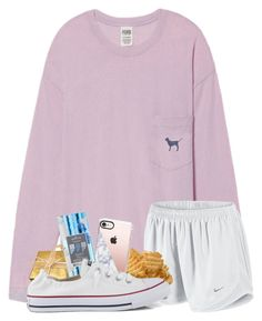 """""""I really don't want to studyyyyyy"""" by magsvolleyball2 ❤ liked on Polyvore featuring Victoria's Secret, NIKE, Casetify, Converse and gabschristmascontest17"""