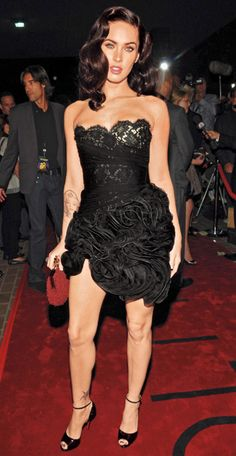 "Megan Fox in Valentino for the premiere of ""Jennifer's Body"" (2009 Toronto International Film Festival)"