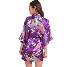 7cce0b7fa5 Bridesmaid robe pajamas (25 varian). Kimono Dressing GownPlus ...