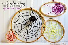 Embroidery Hoop Yarn Spider Webs (via Bloglovin.com )