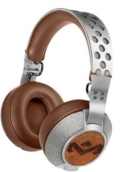 House Of Marley stainless steel headphones. http://www.swell.com/Mens-Accessories/HOUSE-OF-MARLEY-GET-UP-STAND-UP-BLUETOOTH?cs=BR