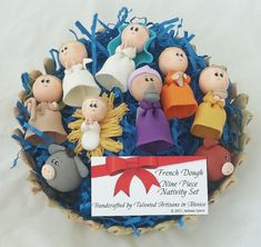 9 Piece French Dough Ceramic Mexican Christmas Nativity Set Made in Mexico New  | eBay