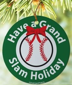this grand slam baseball ornament is the perfect way to show off your love for baseball - Baseball Christmas