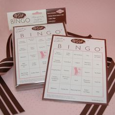 Bridal Shower Gift Bingo (For 50 Guests)