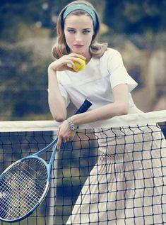 Pinup Pool-Girl Editorials The Elle Denmark May 2012 Norgaard Photoshoot is Elegantly Retro- tennis idea? Mode Tennis, Sport Tennis, Play Tennis, Tennis Wear, Tennis Dress, Tennis Fashion, Sport Fashion, Fashion Shoot, Editorial Fashion