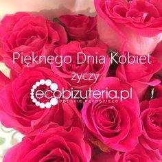 Życzenia z okazji Dnia Kobiet Rose, Flowers, Plants, Blog, Pink, Blogging, Plant, Roses, Royal Icing Flowers
