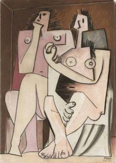 Pablo Picasso - Homme et femme, 1921. #arte