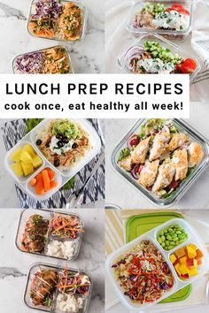 Make these lunch meal prep recipes to enjoy healthier lunches all week long.