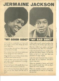 Jermaine Jackson, The Jackson Five, Full Page Clipping