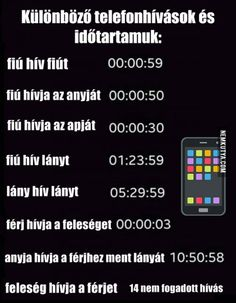 Különböző telefonhívások és időtartamuk Wtf Funny, Funny Jokes, Funny Pins, Really Funny, Funny Comics, Funny Moments, Funny Photos, Happy Life, Quotations