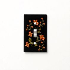 Find Orange light switch covers on Zazzle. Check out our wonderful designs and spruce up your home décor with our wall switch plates! Black Light Switch, Light Switch Covers, Light Up, Custom Lighting, Colorful Backgrounds, Orange, Floral, Pattern, Design
