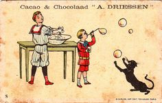 A. Driessen Cacao & Chocolaad vintage advertising card, 1890s