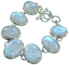 A beautiful and not too elaborate bracelet with my favorite gemstone. The Rainbow Moonstone.