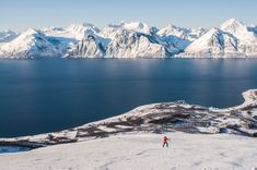 Storhaugen above sea level is a beautiful tour both summer and winter. From the top you will have the most incredible view towards the Lyngen Alps and the surrounding islands. Glass Igloo Hotel, Ski Touring, Stunning View, Beautiful, Visit Norway, Sea Level, Get Outside, Winter Holidays, Alps