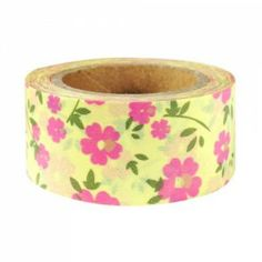 Pink heart flower washi tape.  Get it here: http://washikawaii.com/shop/wrapables-floral-nature-japanese-washi-masking-tape-pink-heart-flowers/