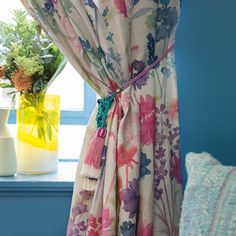 A true colour study for the season, Big Peggy Linen creates a contemporary new floral with jewel teal delphiniums, navy foliage, pops of pink carnations, chalky coral botanicals and fresh chartreuse ferns. Floral Fabric, Linen Fabric, Bluebellgray, Pink Carnations, Color Studies, Modern Prints, Fabric Painting, Soft Furnishings, Make And Sell