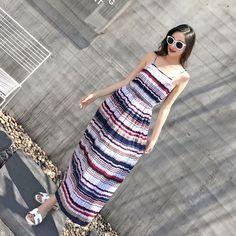 Multicolor Floral Print Spaghetti Strap Women Dresses Beach Wear Maxi Dress
