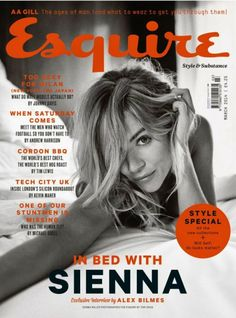 Sienna Miller Talks Jude Law Relationship in 'Esquire UK'!: Photo Sienna Miller is seductive on the cover of Esquire UK magazine's March 2014 issue, out on newsstands on January Here's what the actress had… Sienna Miller, Fashion Magazine Cover, Magazine Cover Design, Magazine Covers, Jude Law, Esquire Uk, Gq, Andrew Harrison, Ages Of Man