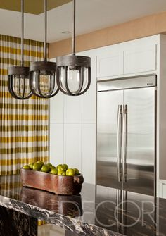 "Jenn-Air 42"" French Door Refrigerator. Got to http://www.mrsgs.com/products/Jenn-Air/jen/jf42nxfxdw.html to learn more about this refrigerator. Seen in The Urban Electric Company - The Blog - Elle Décor Showhouse Miami"