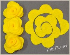 SaltTree: Craft Felt Flower Tutorials - A Compilation-use some for Lucys birthday crown.