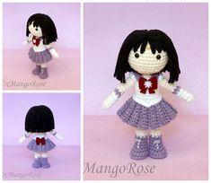 Sailor Saturn Amigurumi Crochet Doll by xMangoRose.deviantart.com on @DeviantArt ☆