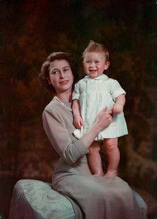 Princess Elizabeth with Prince Charles 1949