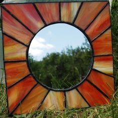 Stained Glass Rays of Sun Mirror. $22.50, via Etsy.