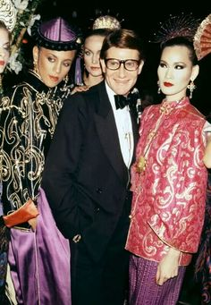 YSL and models at the OPIUM launch party.