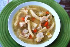 Chicken Noodle Soup with Homemade Noodles - My Kitchen Escapades