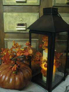 love decorating lanterns for fall